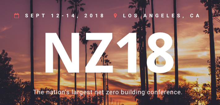 Come See Us at NZ18 | Net Zero Conference | Sep 12-14, Los Angeles CA