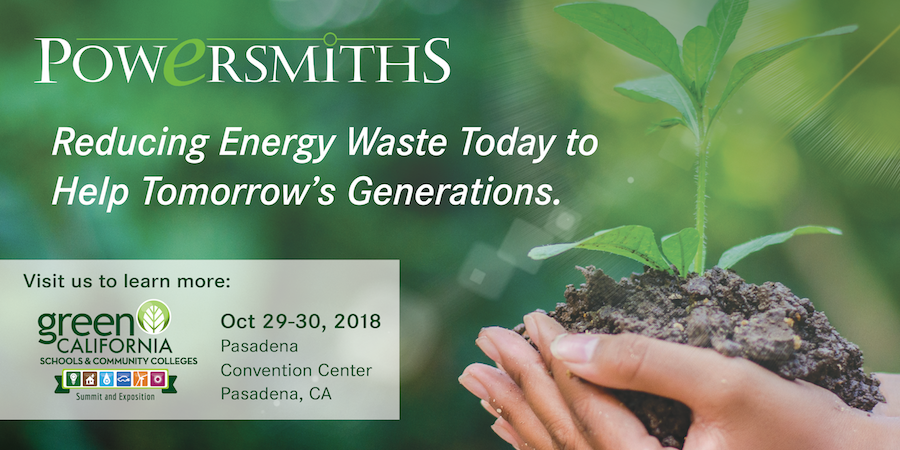 Visit Our Booth to Reduce Building Energy Waste | Green California Schools | Oct 29-30 Pasadena, CA