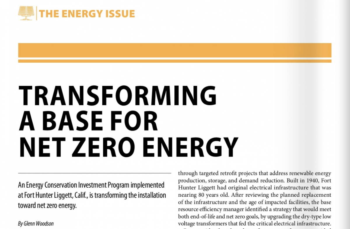 "Article: ""Transforming a Base for Zero Net Energy"""