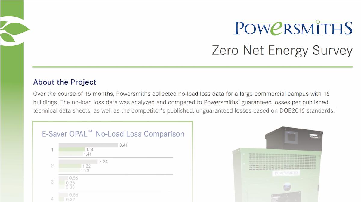 Zero Net Energy Survey – A Campus Study